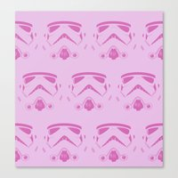 Troops In Pink Canvas Print