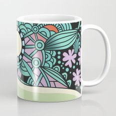 Soft pastel square ornament Mug