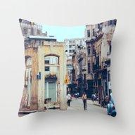 Old Downtown Havana Cuba Throw Pillow