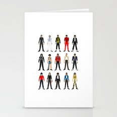 Outfits of King Jackson Pop Music Fashion Stationery Cards