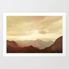 mountains (01) Art Print