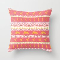 AZTEC Animal Parade Throw Pillow