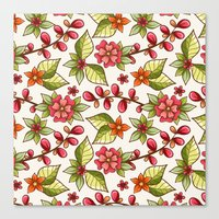 Red sweet flowers Canvas Print