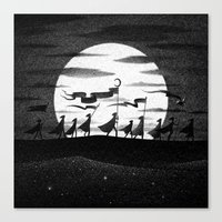 Drawlloween 2015: Moon Canvas Print