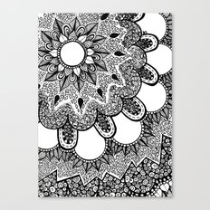 Black and White Doodle 2 Canvas Print