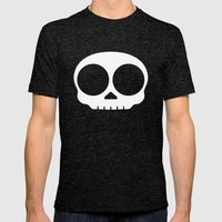 Skull Mens Fitted Tee Tri-Black SMALL