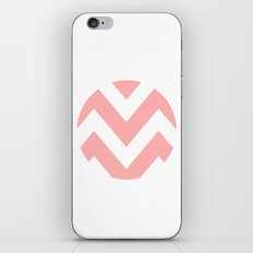 WHITE CIRCLE CHEVRON 2 iPhone & iPod Skin