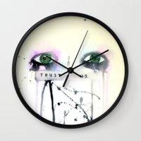 Trust Us Wall Clock