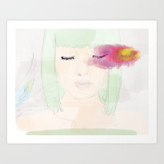 Watery Eyes Art Print