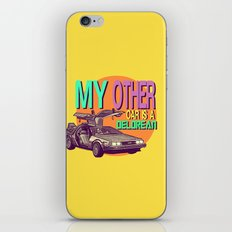 My Other Car Is A Delorean  |  Time Machine iPhone & iPod Skin