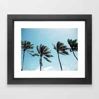 Palm Trees in a Row Framed Art Print