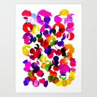 Sunshine Spot Red Art Print