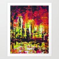 Minneapolis Skyline Reflection Art Print