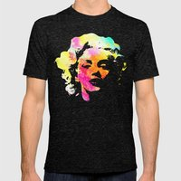 Marilyn Mens Fitted Tee Tri-Black SMALL