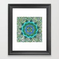 Earth Mandala Framed Art Print