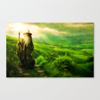 Gandalf's Return - Paint… Canvas Print