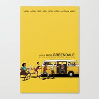 LITTLE MISS GREENDALE Canvas Print