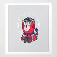 Space On The Brain Art Print