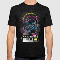 Music Coaster Mens Fitted Tee Tri-Black SMALL