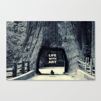 Life WITH art & Life without Canvas Print
