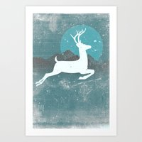 Art Print featuring Over The Moon by Bright Enough💡