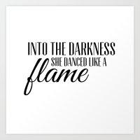 Into The Darkness She Da… Art Print