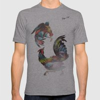 Cocks Mens Fitted Tee Athletic Grey SMALL