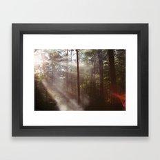 Smoke Rising Framed Art Print