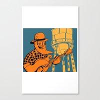 folk mandolin Canvas Print