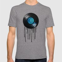 vinyl drip Mens Fitted Tee Tri-Grey SMALL