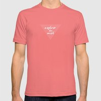 explore the world Mens Fitted Tee Pomegranate SMALL