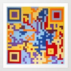 Number Three Multicolour Series  Art Print