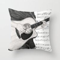 A Few Chords Throw Pillow