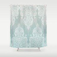 Lace & Shadows - Soft Sa… Shower Curtain