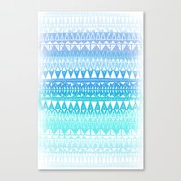 Triangle Gradient Aqua Mix Canvas Print