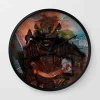 Samurai's Despair Wall Clock