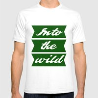Into The Wild Mens Fitted Tee White SMALL