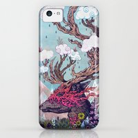 iPhone 5c Cases featuring Journeying Spirit (deer) by Mat Miller