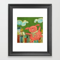 Piggy Pig Framed Art Print