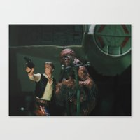 Hokey religions and ancient weapons are no match for a good blaster at your side Canvas Print