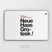 Helvetica Neue / Neue Ha… Laptop & iPad Skin
