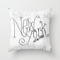 NEW YORK, NY Throw Pillow