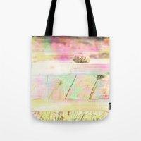 Wild Flower Glitch Tote Bag