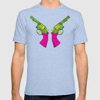 Play Guns Mens Fitted Tee Tri-Blue SMALL