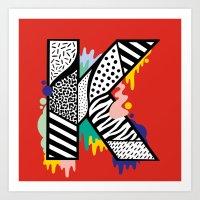 K for ... Art Print