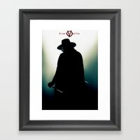 V for Vendetta (e4) Framed Art Print