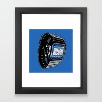 Casio F-105 Digital Watch Framed Art Print