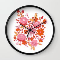 Floral Folk Wall Clock