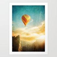 Flying Over The Morning … Art Print