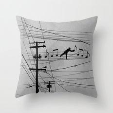 High Notes Throw Pillow